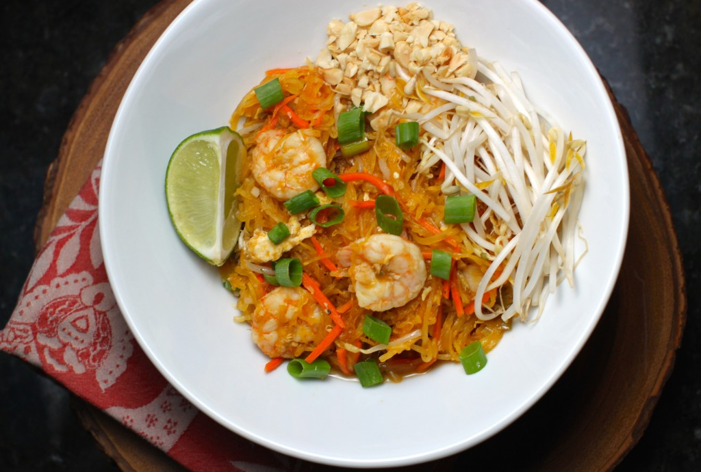 spaghetti squash shrimp pad thai the defined dish