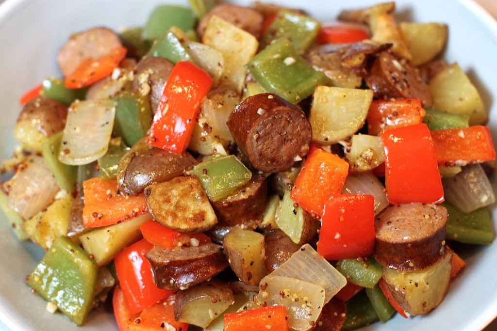 Kielbasa Peppers Onion And Potato Skillet The Defined Dish