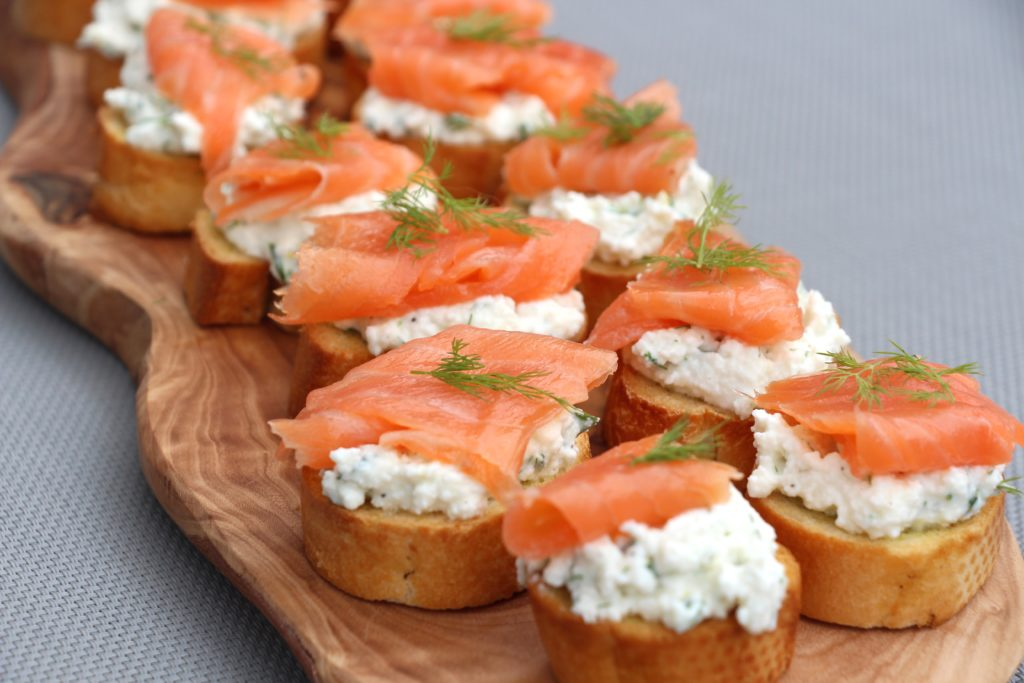 Ricotta and Salmon Crostini