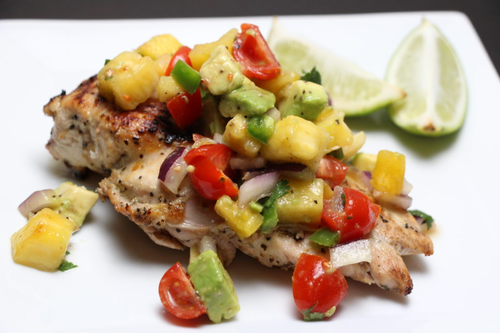 Cilantro-Lime Chicken with Pinapple-Avocado Salsa | The Defined Dish