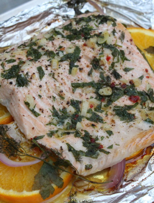 Citrus & Herb Foil Baked Salmon