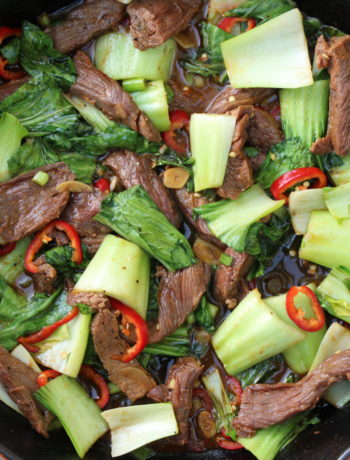 Beef and Bok Choy Stir Fry