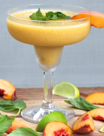 Peach Basil Margaritas & Poptails