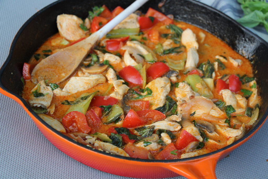 Thai Red Curry with Chicken and Veggies