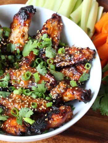 Honey-Ginger-Sriracha Baked Chicken Wings