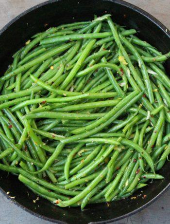Garlicky Green Beans