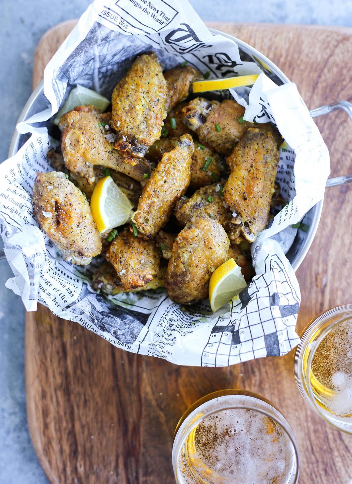 Lemon Pepper Baked Chicken Wings