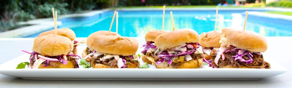 Carne Asada Sliders with Spicy Mexican Coleslaw