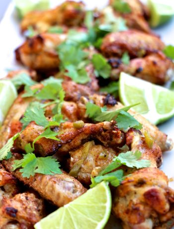Spicy Cilantro-Lime Baked Chicken Wings