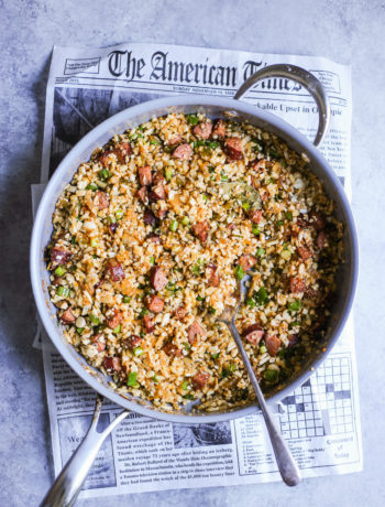 "Dirty Cajun Cauliflower ""Rice"""