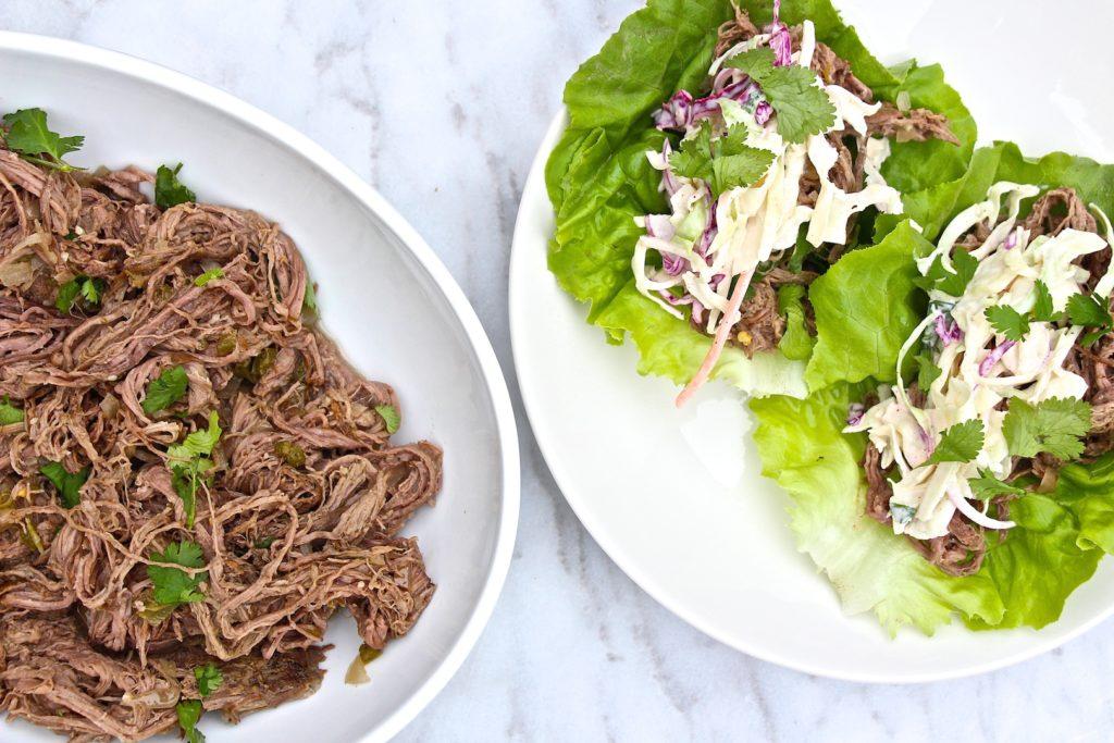 Crockpot Shredded Carne Asada Tacos – The Defined Dish