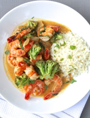 Coconut Curry Shrimp + Broccoli