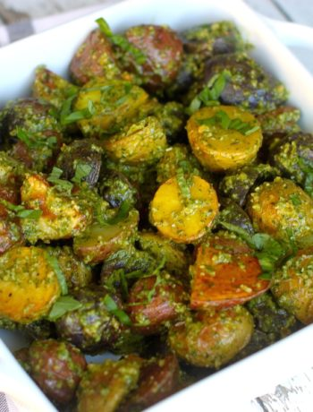 Roasted Pesto Potatoes