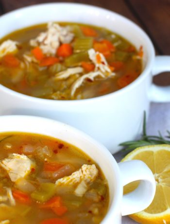 Lemon and Rosemary Chicken Soup