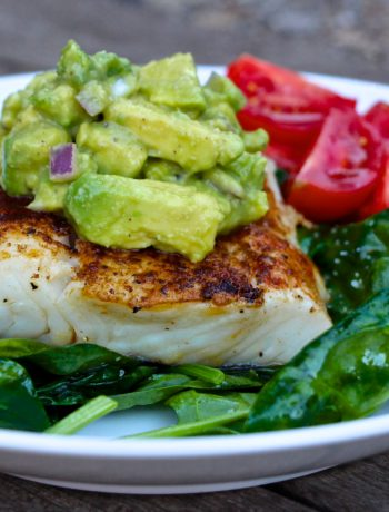 Pan-Roasted Chipotle Halibut with Avocado Salsa