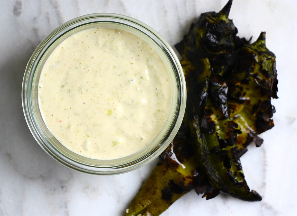 Roasted Hatch Chile Aioli – The Defined Dish