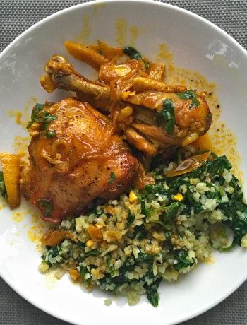 Braised Moroccan Chicken