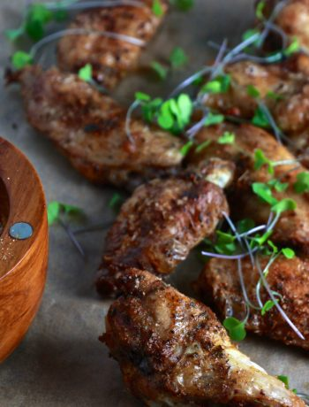Jamaican Jerk Baked Chicken Wings
