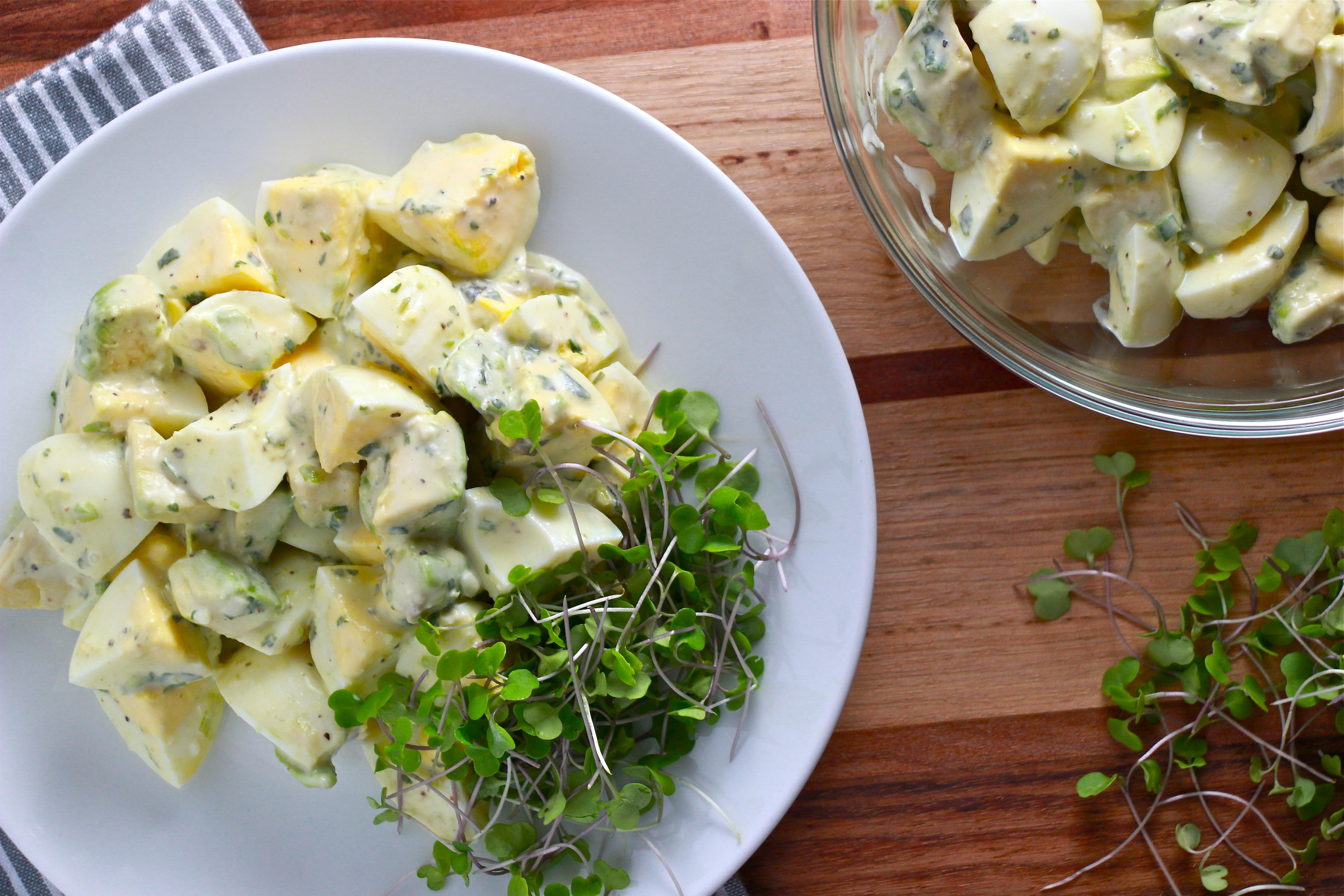 Green Goddess Egg and Avocado Salad