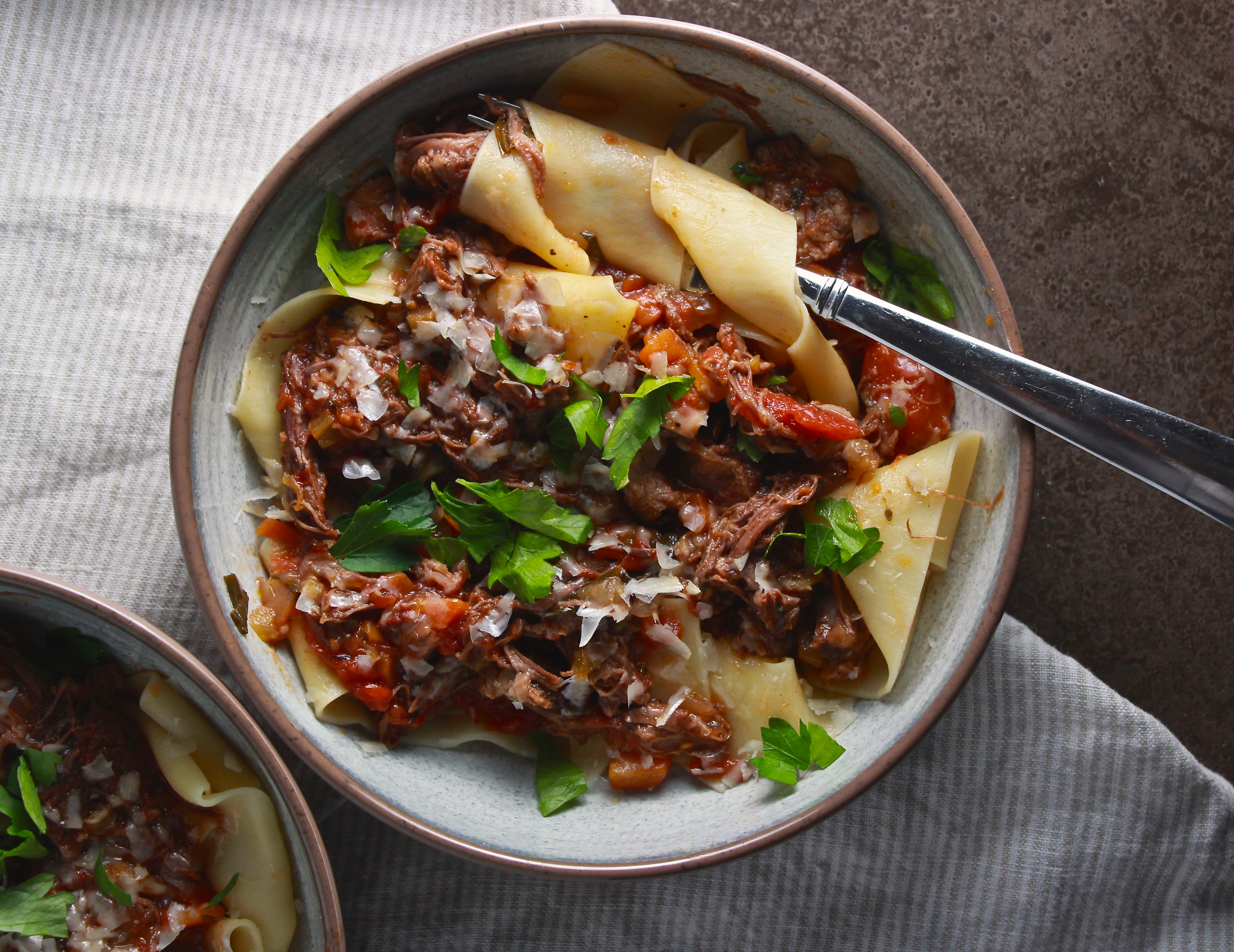 Slow Cooker Short Rib Ragu over Pappardelle – The Defined Dish