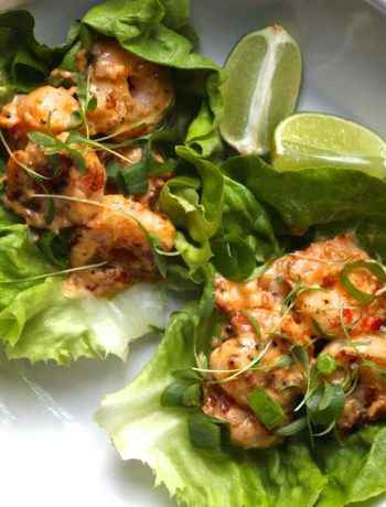 Bang Bang Shrimp Lettuce Wraps