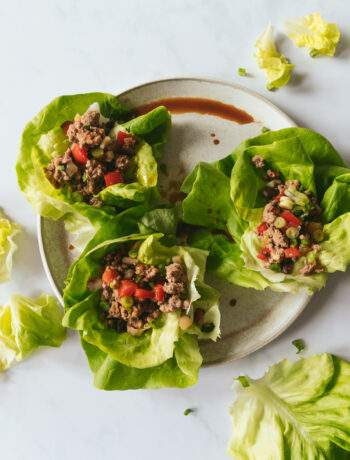 Whole30 Chicken Lettuce Cups