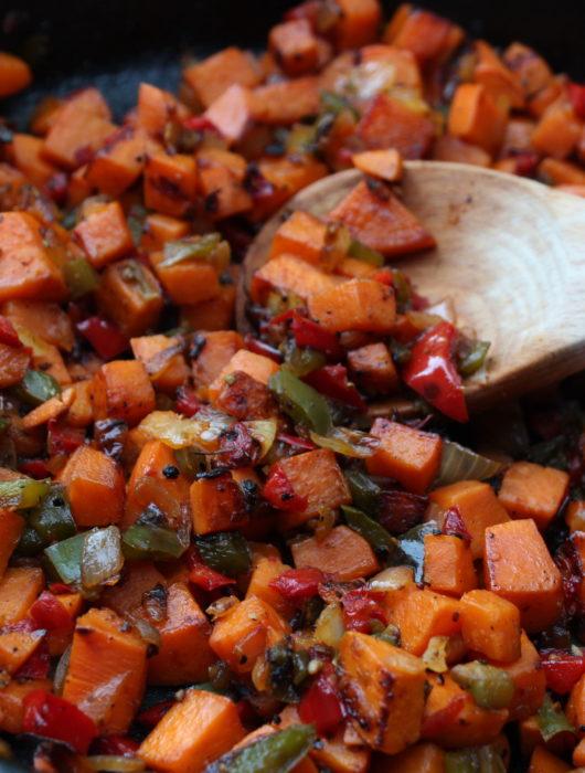 Sweet Potato Hashbrowns O'Brien