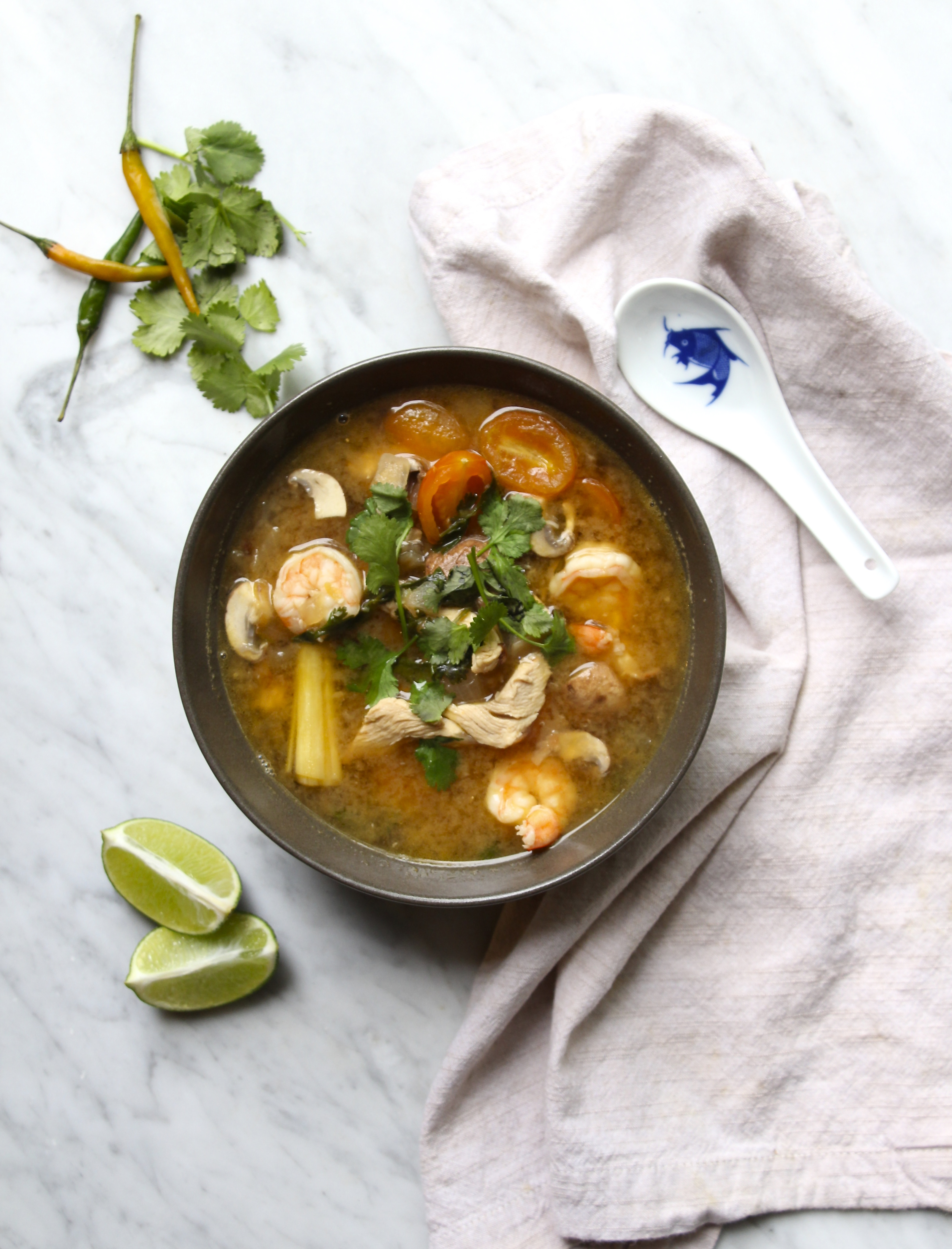 Whole30 Tom Yum Soup