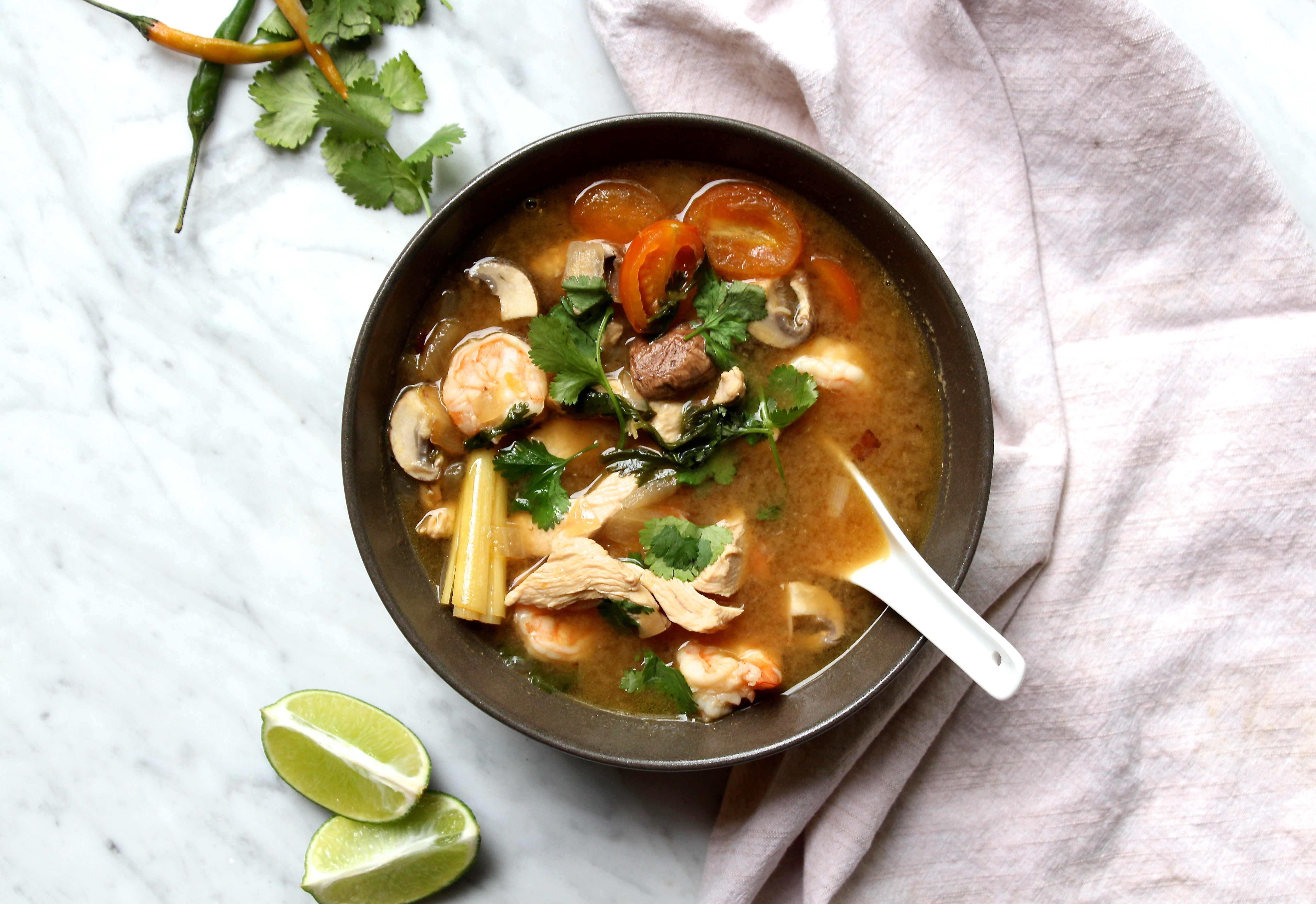 how to make tom yum soup