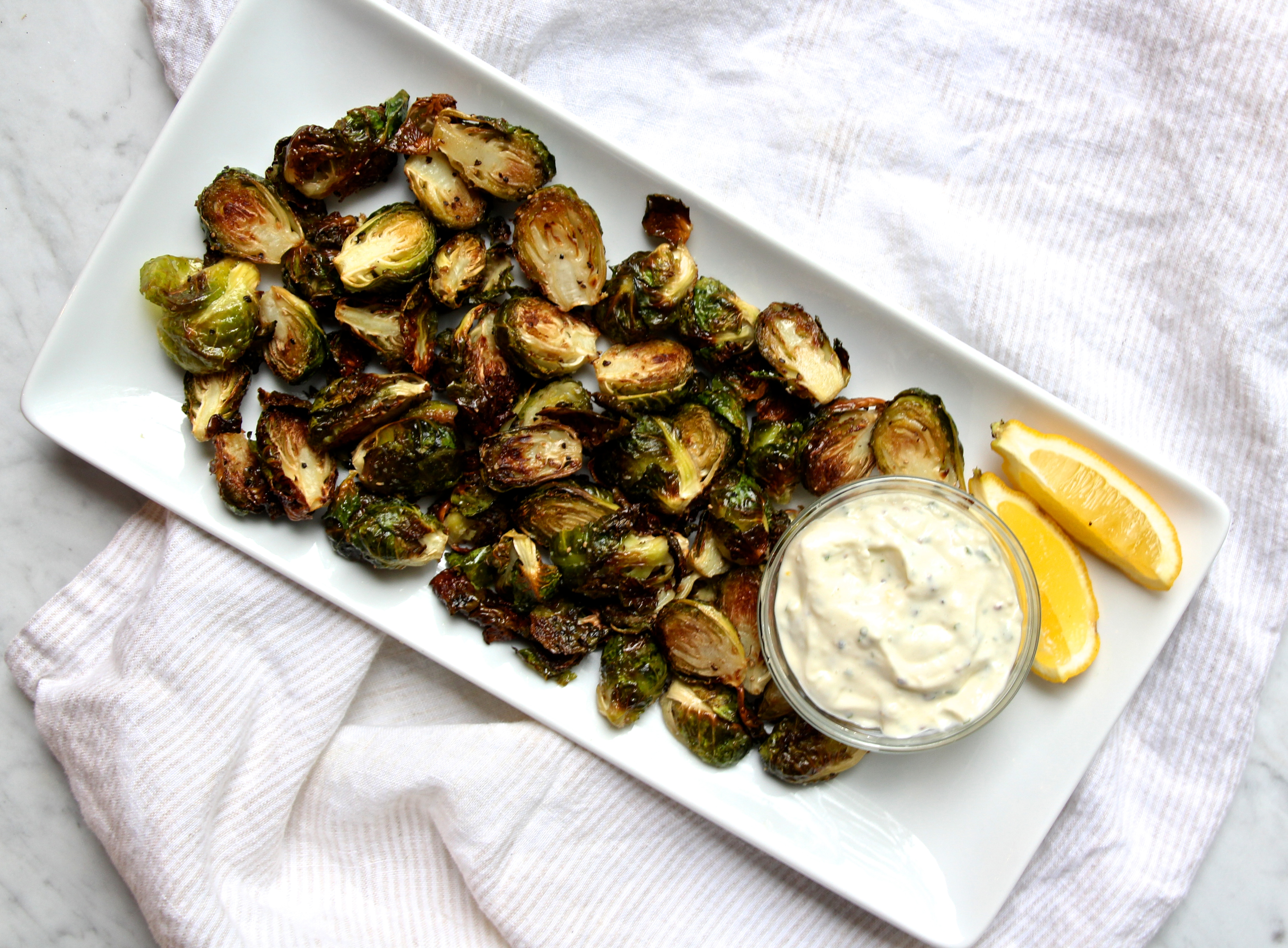 Crispy Brussels Sprouts with Lemon-Basil Aioli – The ...