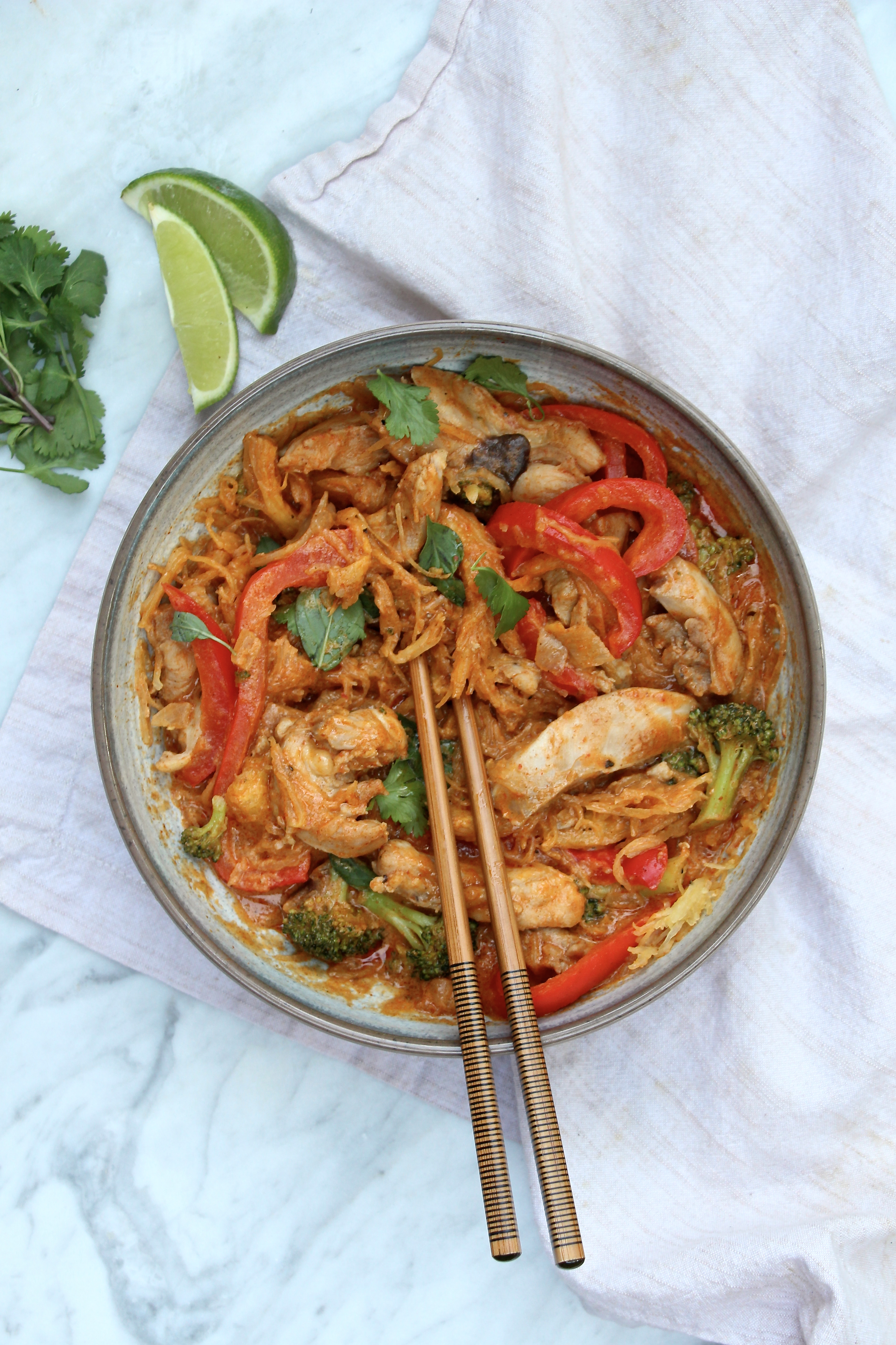 Easy penang curry chicken noodle bowls the defined dish easy penang curry chicken noodle bowls forumfinder Images
