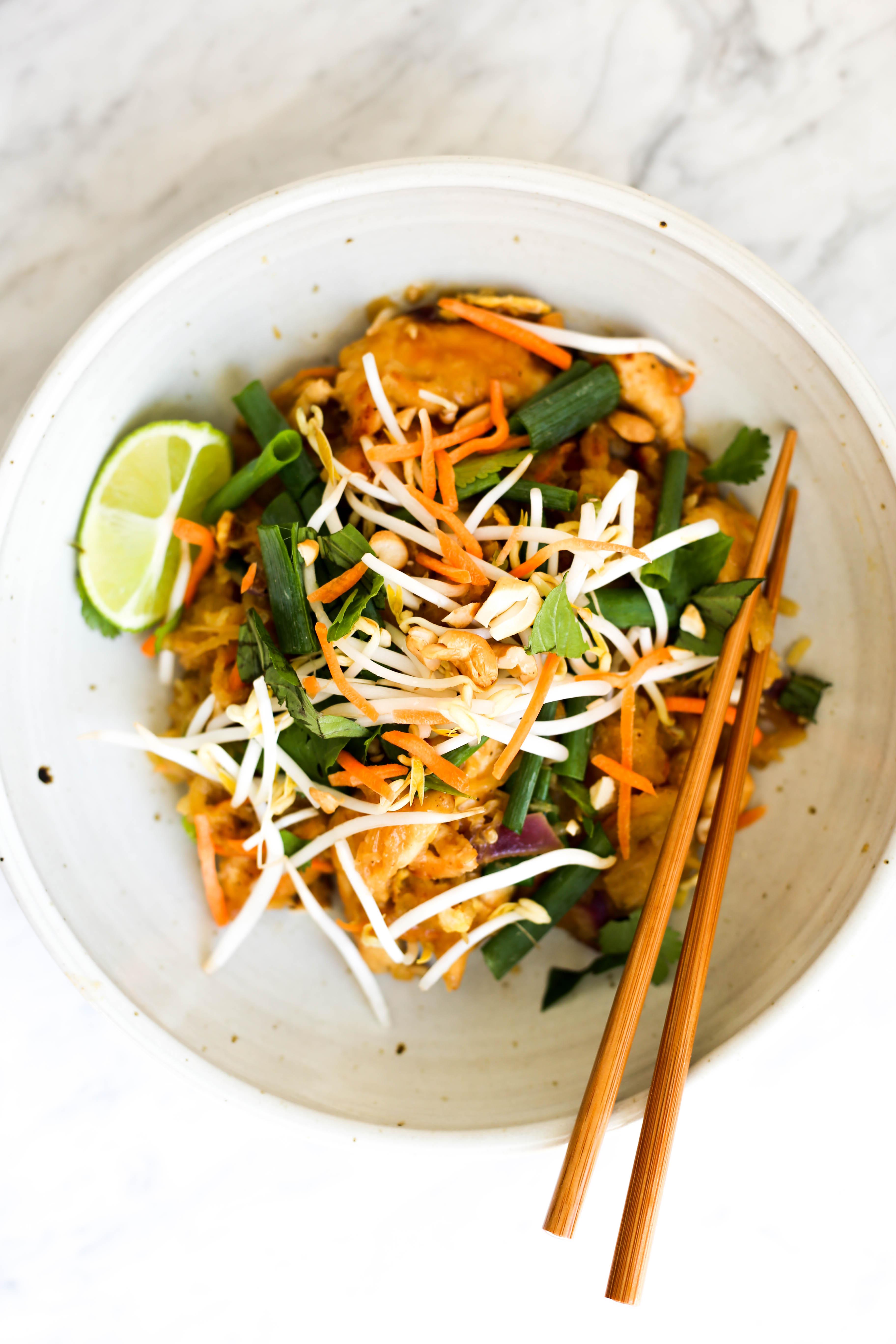 Whole30 Spaghetti Squash Pad Thai