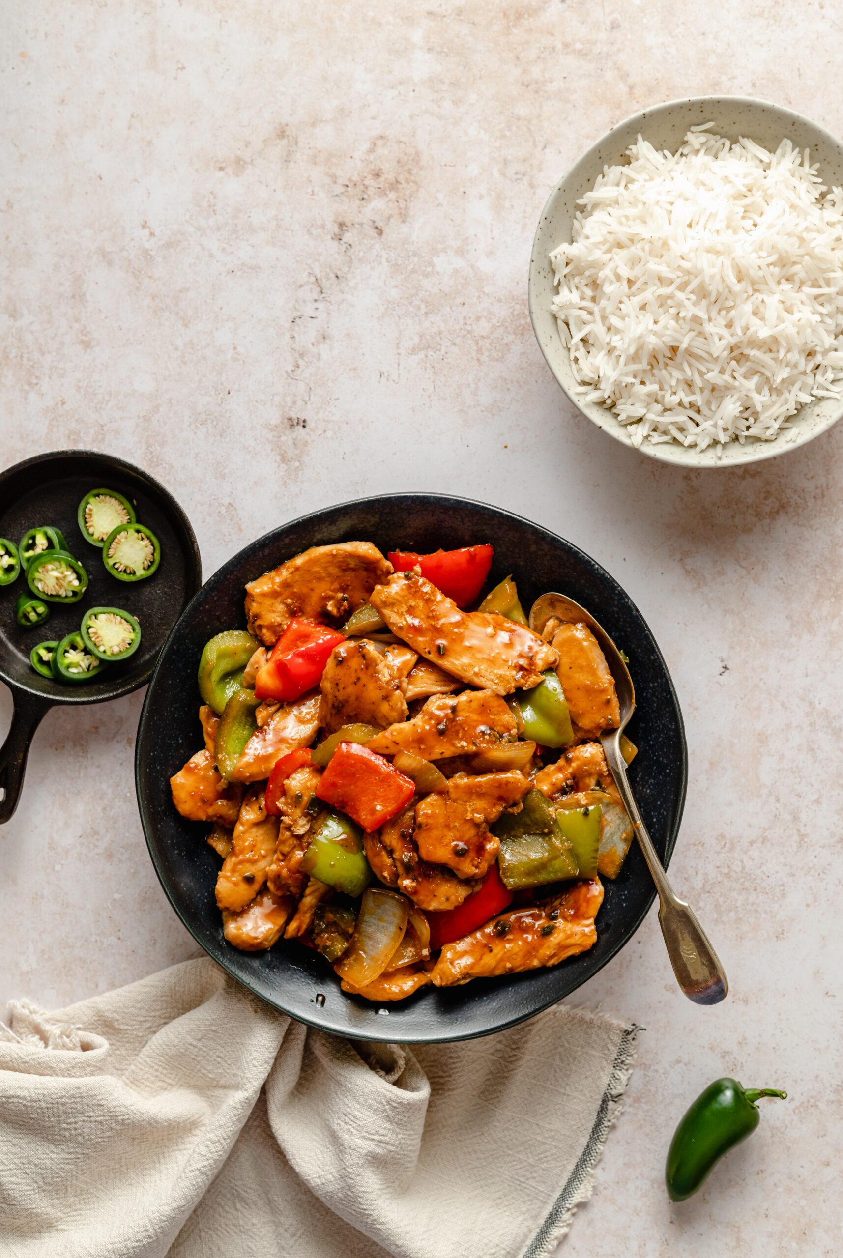 Whole30 Chinese Inspired Jalapeño Chicken