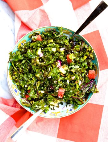 Summer Kale and Watermelon Salad