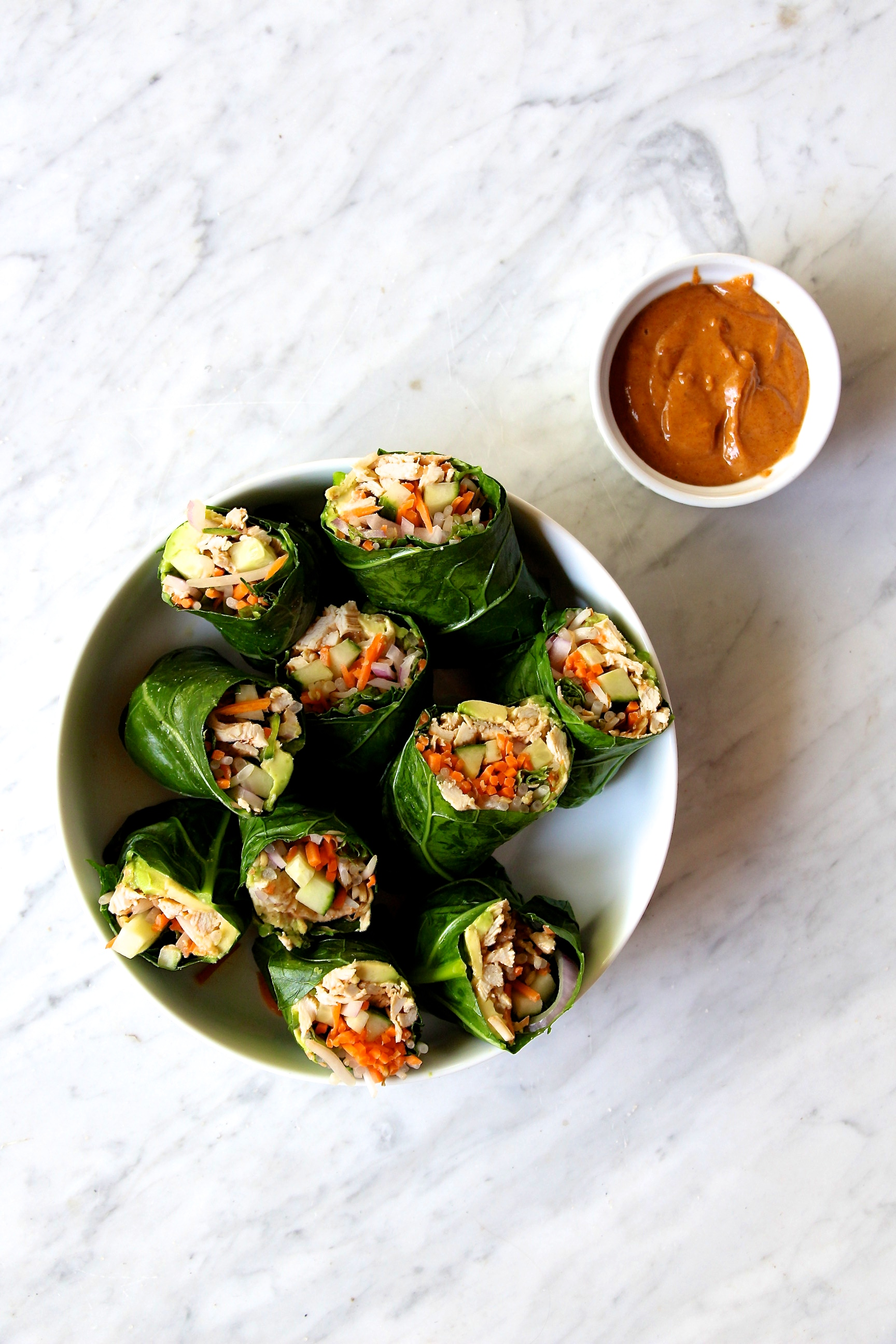 Whole30 Collard Wrap Spring Rolls