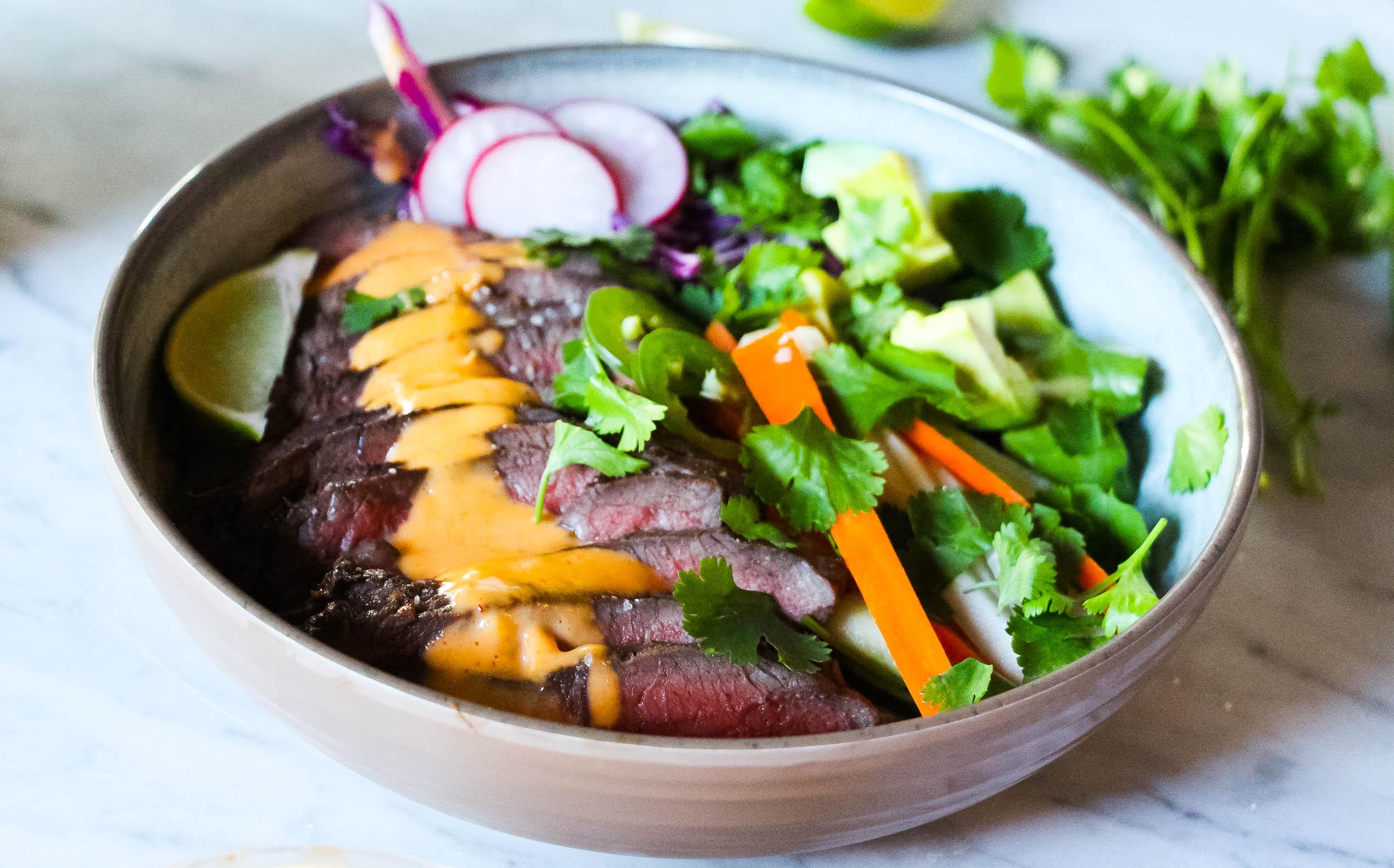 Lemongrass Steak Banh-Mi Bowls – The Defined Dish