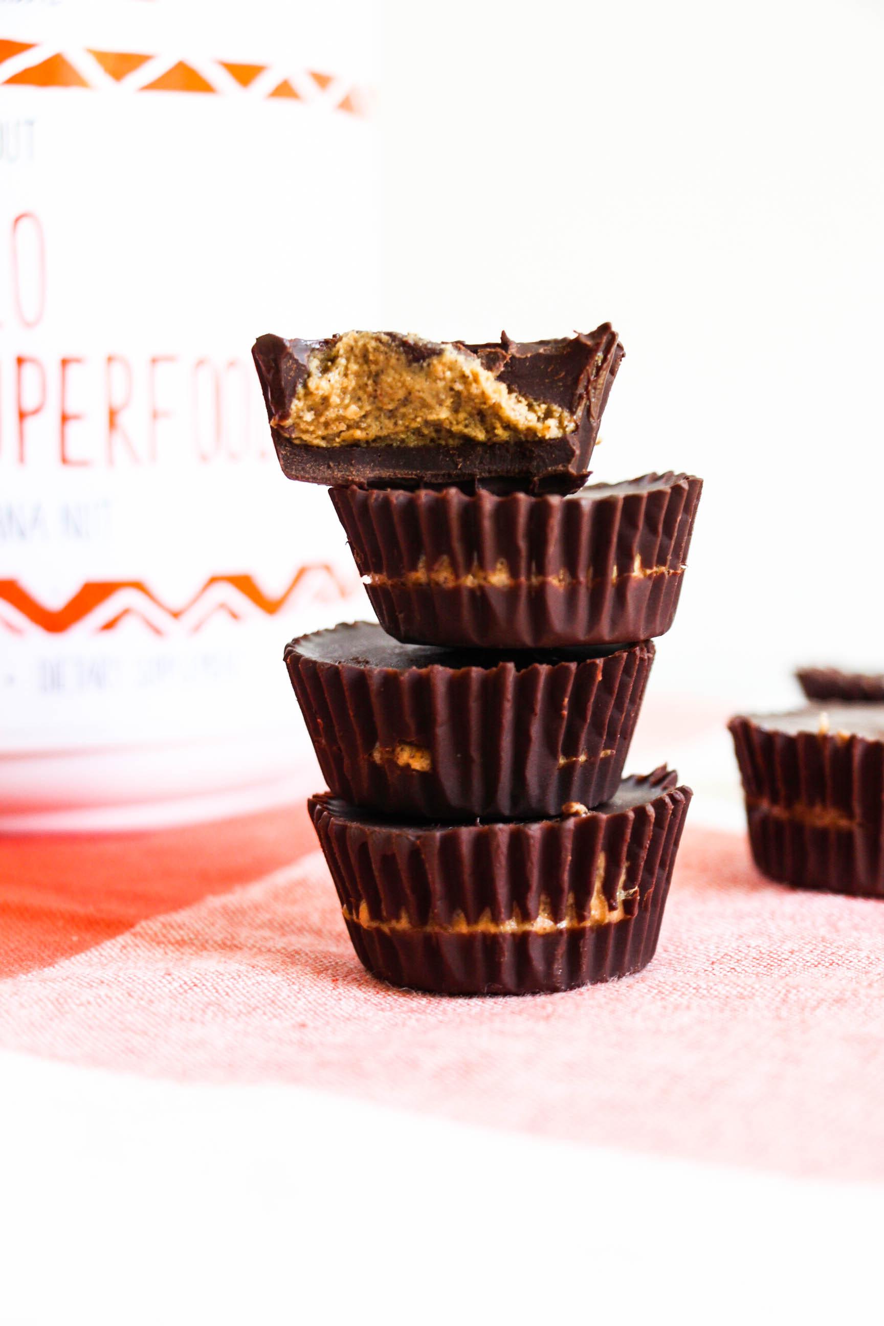 Dark Chocolate Protein Cashew Butter Cups