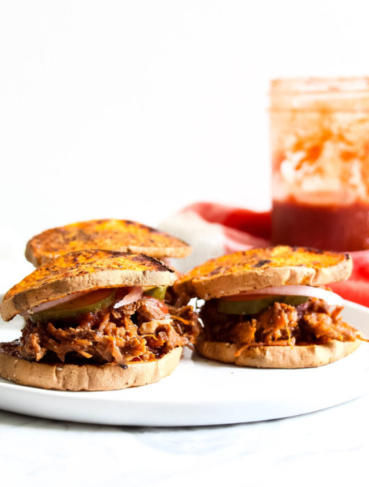 Whole30 BBQ Pulled Pork Sliders