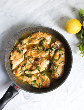 Lemon-Basil Chicken Skillet