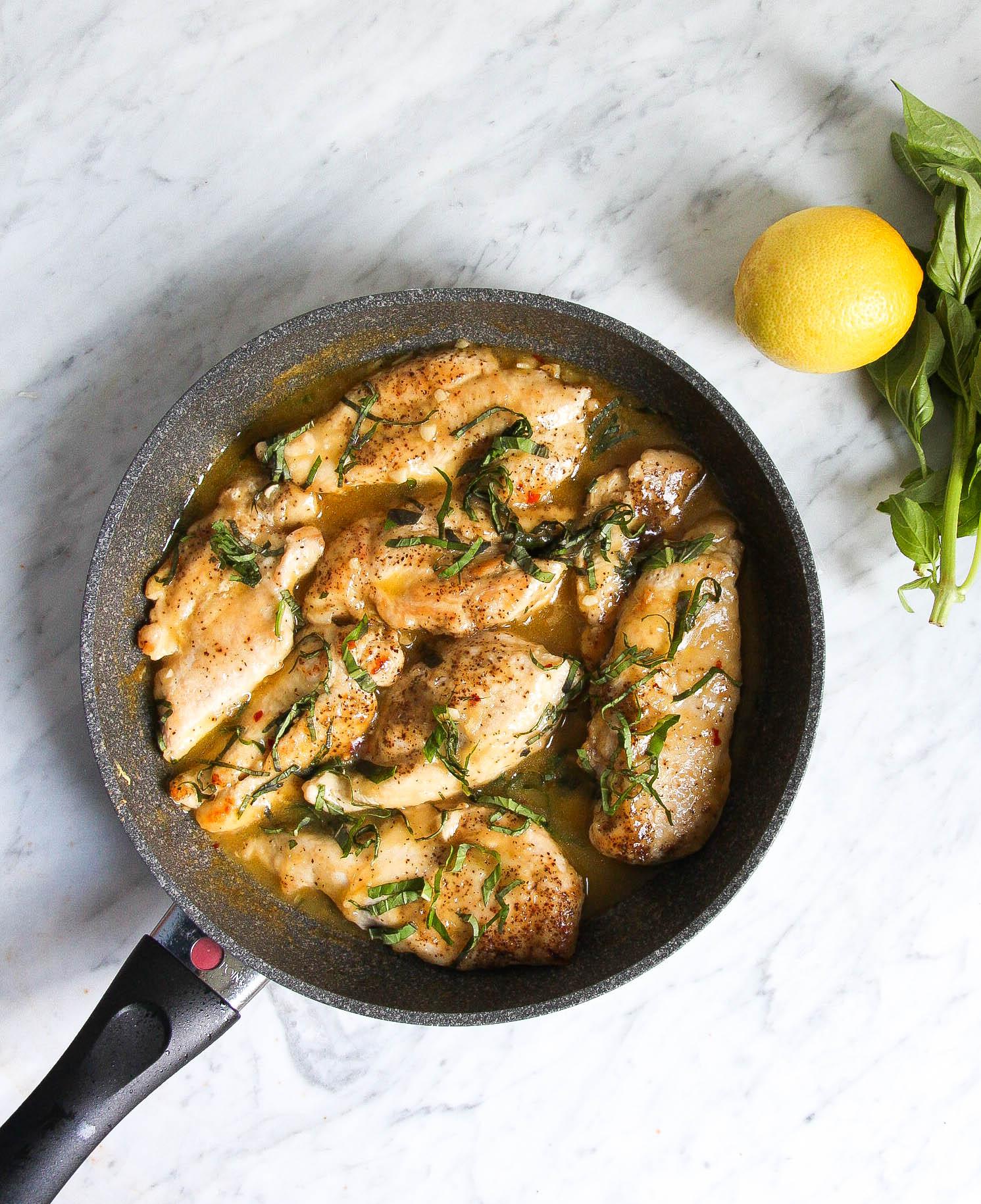 Lemon Basil Chicken Skillet The Defined Dish Recipes