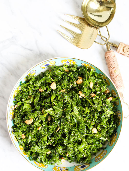 Simple Sesame Kale Salad