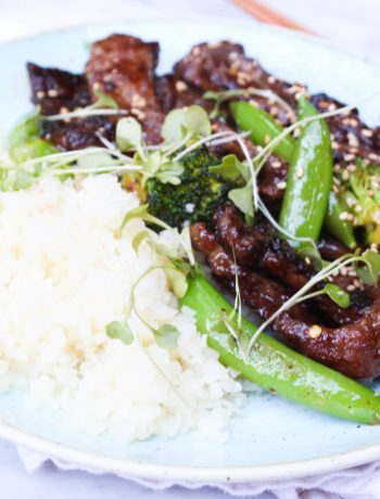 Crispy Ginger Beef + Broccoli Stir Fry