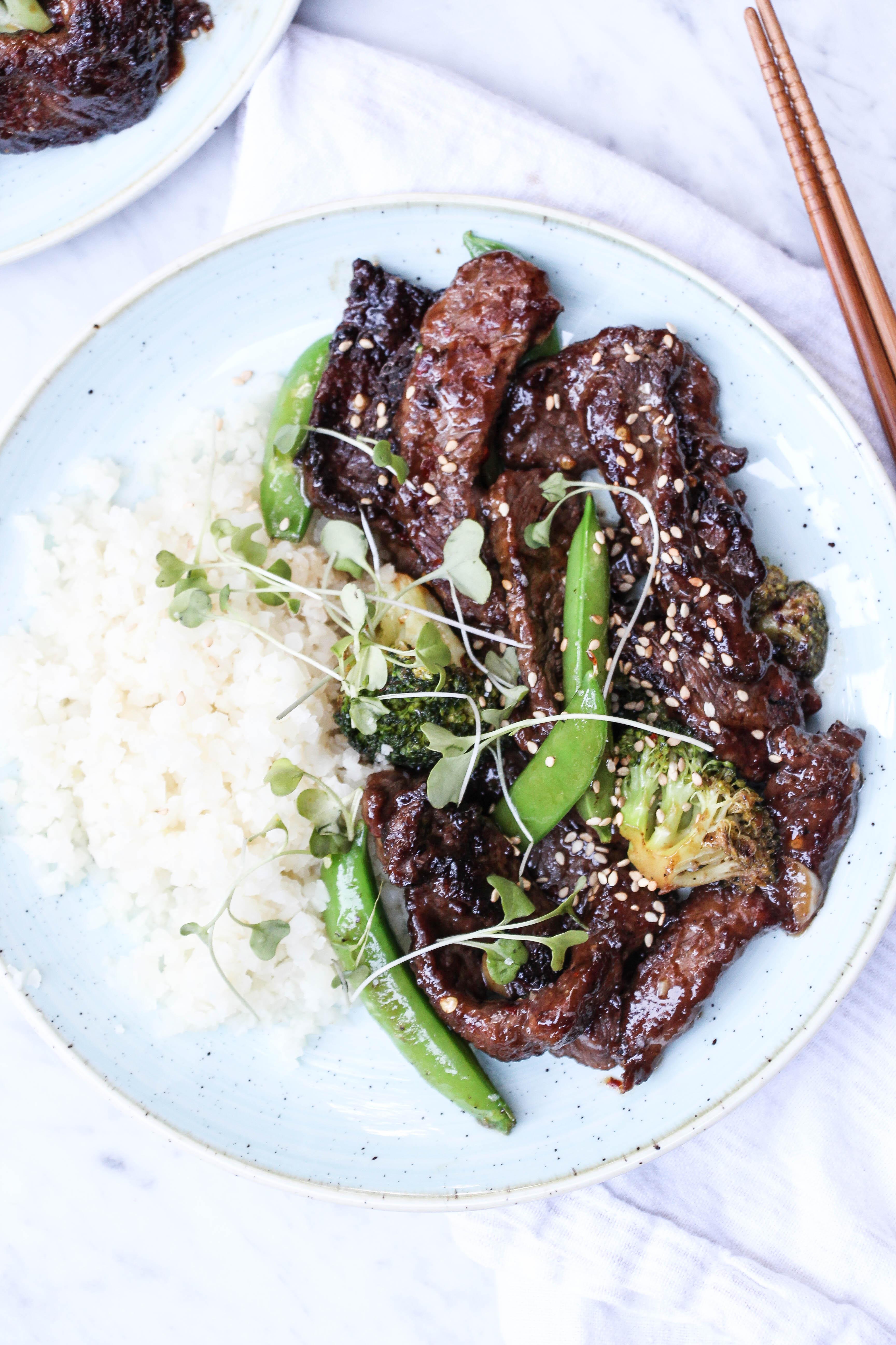 Crispy Ginger Beef + Broccoli Stir Fry