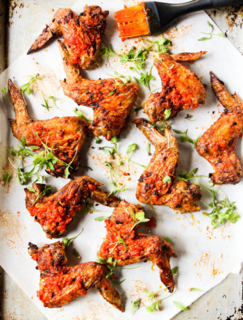 Curry + Harissa Baked Wings