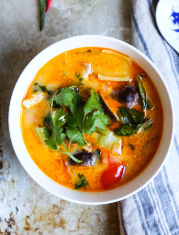 Thai Red Curry Chicken Zoodle Soup