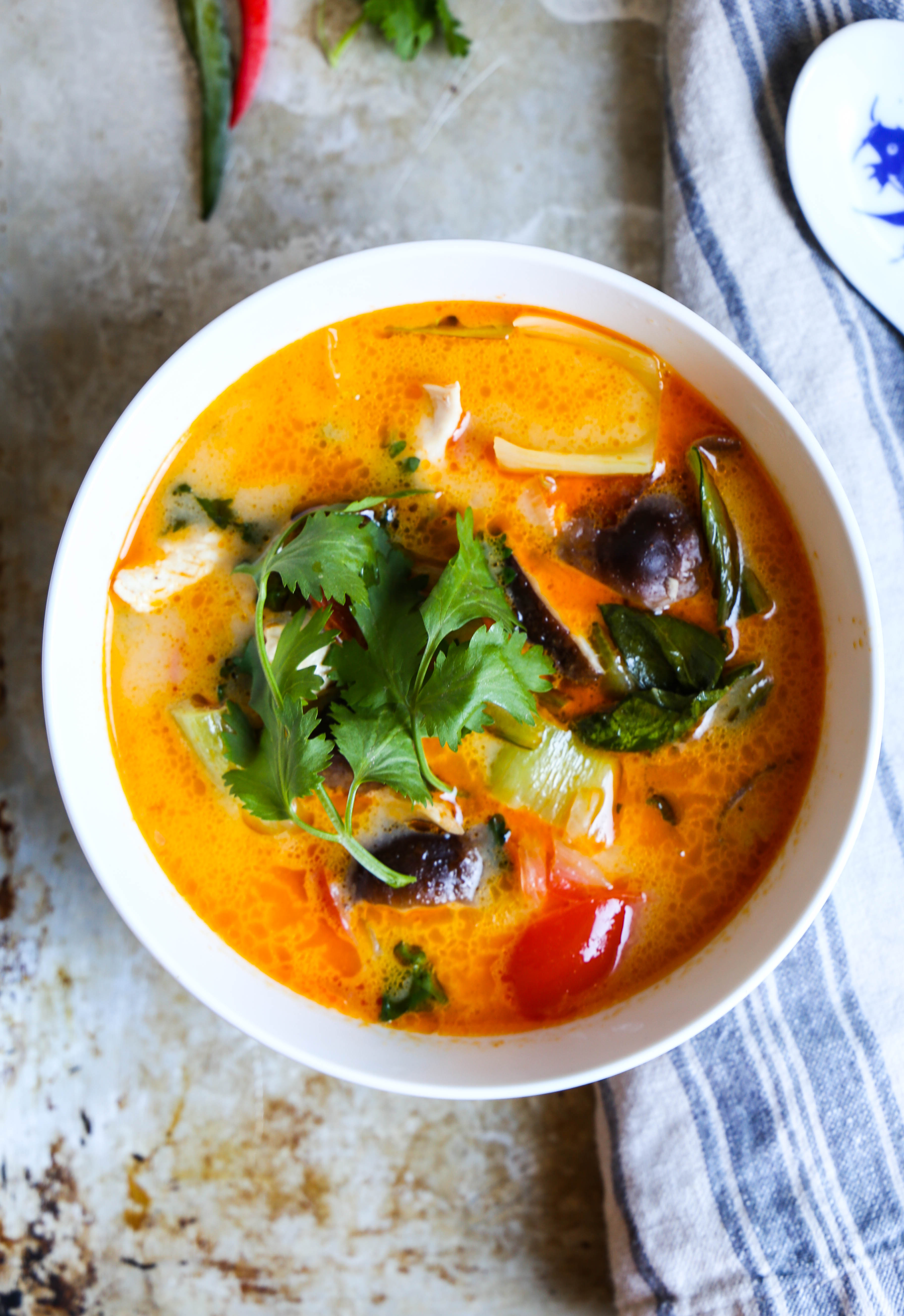 Thai Red Curry Chicken Zoodle Soup The Defined Dish