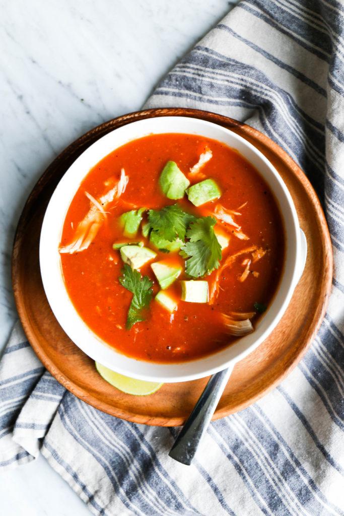 creamy tortilla-less soup