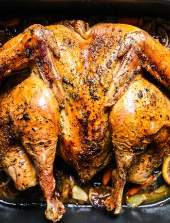 Whole30 Spatchcocked Turkey + Turkey Gravy