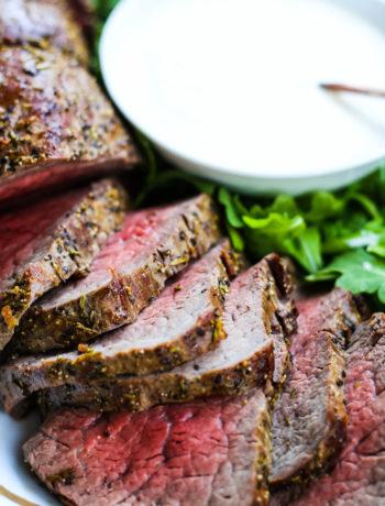 Roast Beef Tenderloin with Creamy Horseradish Sauce
