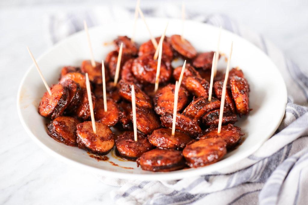 kielbasa bites with secret sauce